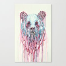 Dripping Panda Canvas Print