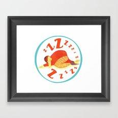Sleepy Drinker Framed Art Print