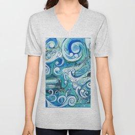 Shark wave Unisex V-Neck