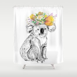 Koala • Animal Illustration   Art Print   Wall Art   Animal Art   Original Artwork Shower Curtain