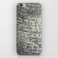 writing iPhone & iPod Skins featuring ancient writing by Falko Follert Art-FF77