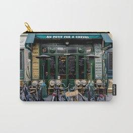 Paris Restaurant in the Marais Carry-All Pouch