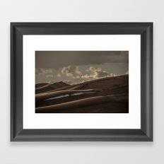 Travel - Nature - Landscape - Small People. Big Sand. Don't Trip! Framed Art Print