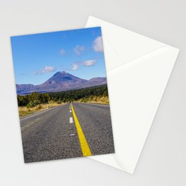 New Zealand Road   Volcano Tongariro National Park (North Island)   Colorful Travel Photography Stationery Cards