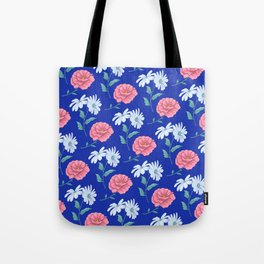 daisy and rose seamless pattern Tote Bag