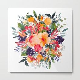 Autumn watercolor bouquet Metal Print
