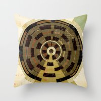 record Throw Pillows featuring Record by Tammy Kushnir