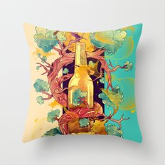 Natural Cycle Throw Pillow