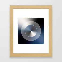 Serene Simple Hub Cap in Blue Framed Art Print