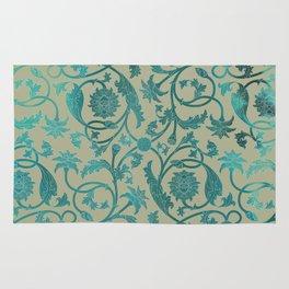 Blue Lotus Pattern Rug