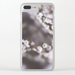 The Smallest White Flowers 03 Clear iPhone Case