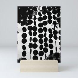 Black and White Circles Mini Art Print