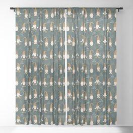 Christmas Spirit (Highland) Sheer Curtain