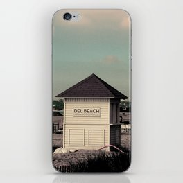 Del Beach Huts iPhone Skin