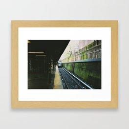 Subway Moss Framed Art Print