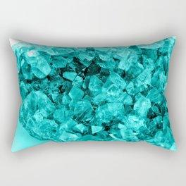 Sparkling Aqua Amethyst Rectangular Pillow