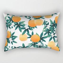 Orange Twist Flower Vibes #2 #tropical #fruit #decor #art #society6 Rectangular Pillow