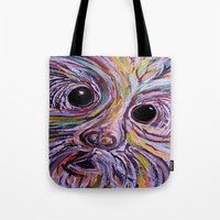 schnauzer Tote Bags featuring Schnauzer by EloiseArt