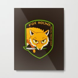 Metal Gear Solid - Chibi Foxhound Metal Print