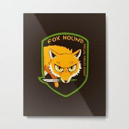 Metal Gear Solid - Chibi Foxhound Metal Print