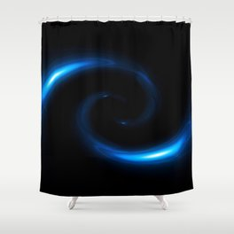 Blue Twirl Abstract Shower Curtain