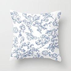 Toile Roses Throw Pillow