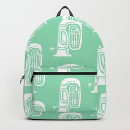 Tuba Pattern Mint Green Backpack
