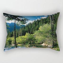 Mountain Forest Lake Rectangular Pillow