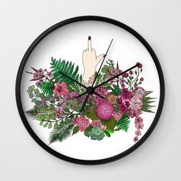 Botanical Bird Bouquet Wall Clock