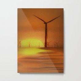 Windmills (Digital Art) Metal Print