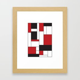 Geometric Abstract - Rectangulars Colored Framed Art Print