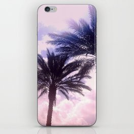 PINK PALM TREES iPhone Skin