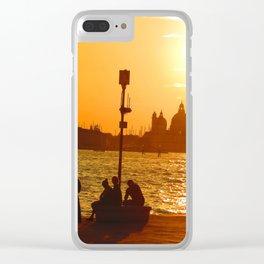 Sunset in Venice Clear iPhone Case
