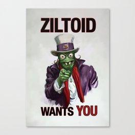 Uncle Ziltoid Wants You! Canvas Print