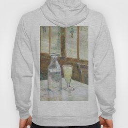 Café table with absinth by Vincent Van Gogh Hoody