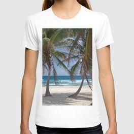 Serene Caribean Beach Scene T-shirt