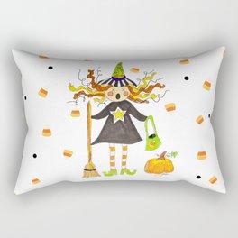 Raining Candy Corn Rectangular Pillow