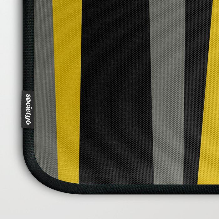 yellow gray and black Laptop Sleeve