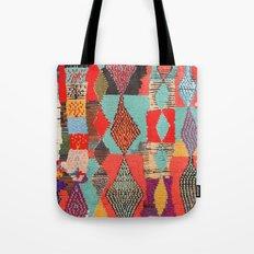 Moroccan rug pattern animal abstract modern Tote Bag