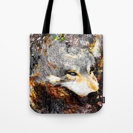 Modern gray wolf art vs 8 Tote Bag
