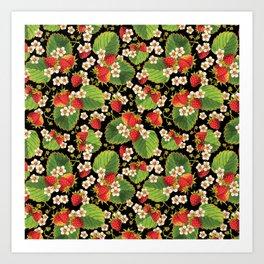 Strawberries Botanical Art Print