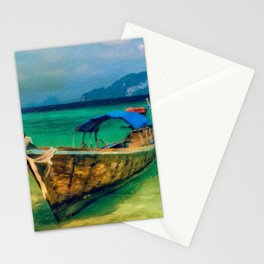 Thai Longboat Stationery Cards