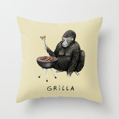 Grilla Throw Pillow