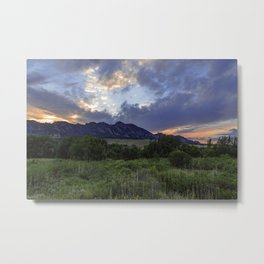 South Boulder Sunset Vista Metal Print