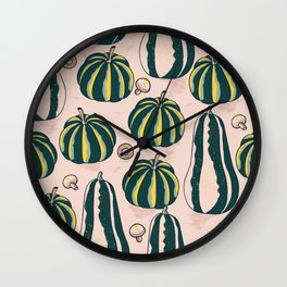 Pumpkins Fall Wall Clock