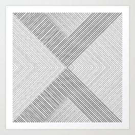 Stripe Geometric Arrow Art Print