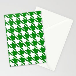 Hounds Tooth Green & White Stationery Cards