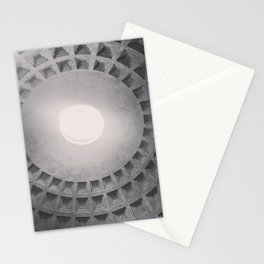 The Pantheon dome, architectural photography, Michael Kenna style, Rome photo Stationery Cards