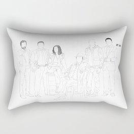 (Lineart) The Blacklist // Cast Rectangular Pillow