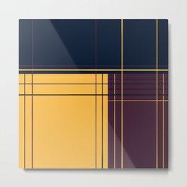 Abstract graphic I Dark blue Purple Yellow Metal Print